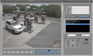 gas pump islands security camera