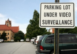 security system parking lot