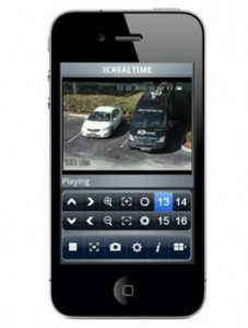 Watch surveillance footage on smartphone