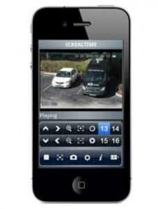 Watch surveillance footage on smartphone