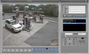 gas pump islands security camera