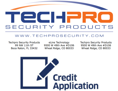 Techpro Security Credit Application